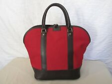 Genuine Hartmann canvas and leather trim dome satchel bag in red