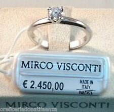 Anello oro bianco 18kt 750/°°° MIRCO VISCONTI con Diamante solitario