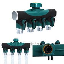 4 Way Garden Lawn Water Hose Connector Watering Splitter Supplies