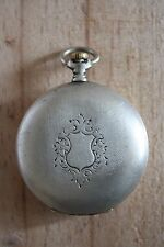 Antique Silver Longines Ladies Pocket Watch for Parts or Repair