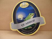 Downton Brewery Quadhop Ale Beer Pump Clip face Pub Bar Collectible 94