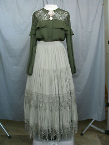 Victorian Dress Edwardian Womens Costume Civil War Reenactment Custom Designed