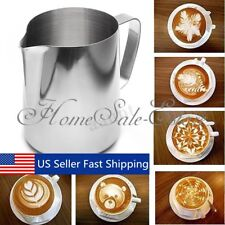 3 Sizes Stainless Steel Coffee Pitcher Mug Frothing Milk Latte Jug Foam Cup  US