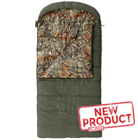 Oversized Flannel Hooded Sleeping Bag Camo Durable Comfort Outdoor Camping NEW