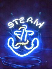"""Anchor Steam Neon Lamp Sign 17""""x14"""" Bar Light Garage Cave Glass Artwork"""