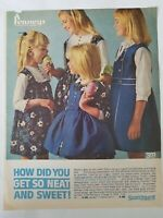 1964 little girls Carol Evans exclusives dresses Scotch Guard at Penney's ad