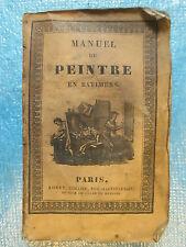MANUEL RORET DU PEINTRE EN BATIMENS, fabricant de couleurs, vitrier, 1829.
