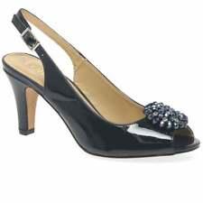 Lotus Elodie Womens Slingback Peep Toe Shoes