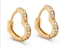 14k Yellow Gold Heart Shaped Hoop Earrings