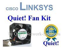 Quiet Cisco Linksys SRW2024P Fan Kit, 1x Fans 12dBA Noise Best for Home Network