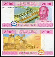 CENTRAL AFRICAN STATE CAMEROUN 2000 FRANCS 2002 P 208Ua UNC