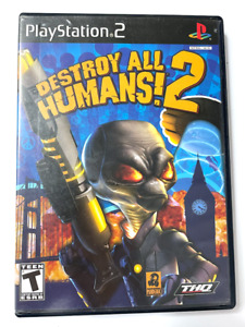 Destroy All Humans 2 SONY PLAYSTATION 2 PS2 GAME TESTED ++ WORKING!