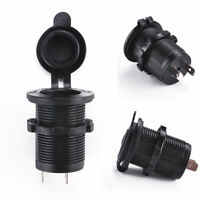 Waterproof DC 12V Car Boat Motorcycle Cigarette Lighter Socket Outlet Power Plug