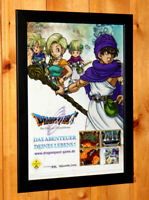 Dragon Quest IX 9 Sentinels of the Starry Small Poster / Old Ad Page Framed NDS