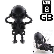 Flash Memory Stick 8GB Pen Drive Funny Black Skeleton Model USB 2.0 Wholesale!