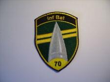 Schweizer Armee 21 Aufnäher  Inf Bat 70 in gelb     9 x7 cm