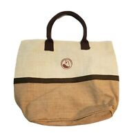 Burlap Shoulder bag Purse LARGE Shopping BEACH Tote Sack Waxed Fully Lined