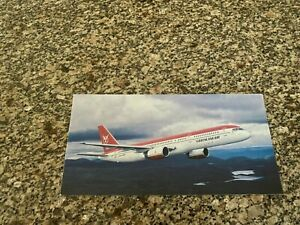 Greenlandair Boeing 757-200 inflight big airline issued postcard