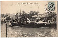 """CPA 44 - PORNIC (Loire Atlantique) - 1105. Le Môle. Le """"Bellilois"""" en partance"""