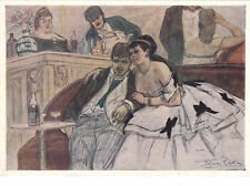 1960 In Antwerp café by Félicien Rops cabaret old Russian Soviet postcard