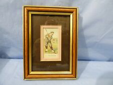 More details for vintage framed cigarette card copes golfers 1904 no. 31 the duffer collectible