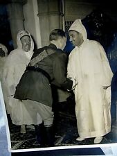 Photo ancienne Roi du Maroc Mohamed Mohammed V, personnage militaire, accueil