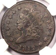 1812 Classic Liberty Head Large Cent 1C - NGC AU Details - Rare Key Date Penny