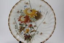 Antique Franz Anton Mehlem Bonn China Hand Paint Floral Gilt Plate 1887-1920