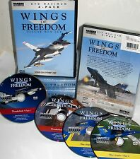 Wings of Freedom 4 DVD BOX $29 ,Air Force ,Navy,Marines,Blue Angles,Thunderbirds