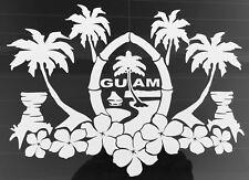 Guam Island Seal - Chamorro Chamoru Native - Vinyl Die-Cut Decal Sticker
