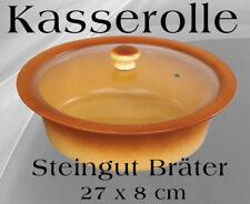Kasserolle Bräter Steingut Topf Gasofen Gartopf Auflauf Gratin Nudeln Lasagne #3