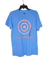 Captain America All Star Dad T-shirt Size Medium Nwot Fathers Day