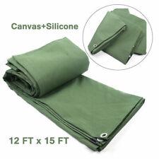 New listing 18Oz Heavy Duty Canvas Tarp 12feet x 16feet Breathable Canvas Tarpaulin Cover