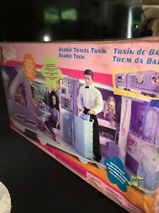 2001 Barbie Travel Train Playset with Sounds, ElectMoving Window Ends Nov 16