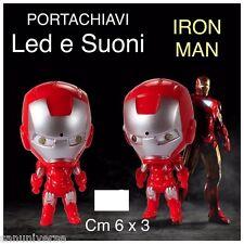 1 FIGURE PORTACHIAVI KEYCHAIN SUPEREROI MARVEL-IRON MAN LUCI LED,SUONI avengers