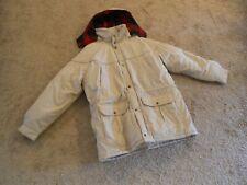 Men's Van Heusen Heavy Jacket Coat Light Khaki XL Detachable Hood Thick Lining