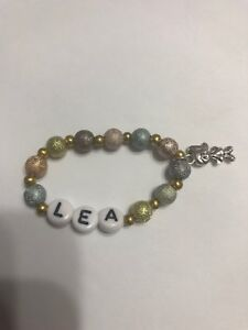 """3.5"""" Elastic Bracelet With Charm To Fit American Girl Doll 2016 Lea Clark"""