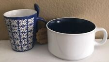 New 24oz. Soup Mug and 12 oz.Coffee Cup With Ceramic Spoon