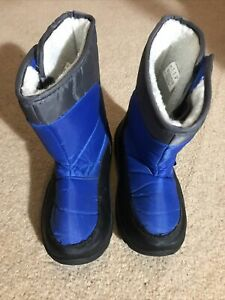 Mountain Warehouse Boys Girls Blue Snow Boots Size 1 Warm Comfy Winter Exc Cond