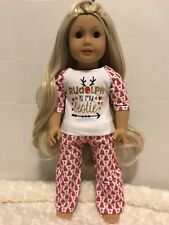 Custom Christmas Pajama Set For American Girl Doll Or Other 18 Inch Dolls