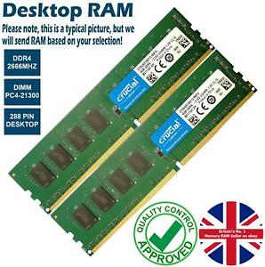 2GB 4GB 8GB Memory RAM Desktop PC4 21300 DDR4 2666MHz 288 Pin Non-ECC Lot