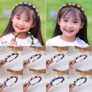 Girls Headband Wide Band Flower Hairband Kids Cartoon Hair Bands Hair Hoop