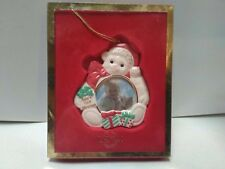 """Lenox Porcelain Picture Christmas Ornament """" Baby's First Christmas"""" ~ Beautiful"""