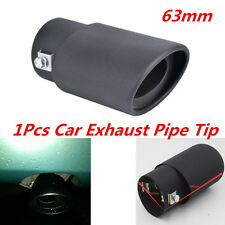 63mm Inlet Car Exhaust Pipe Trim Tips Muffler Pipe Stainless Steel Tail Throat
