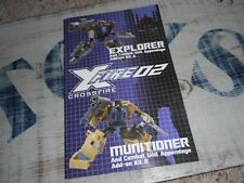 Transformers Fansproject Xfire Crossfire part lot Bruticus, instructions booklet