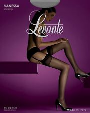 Levante Vanessa Sheer Stockings Available in 3 Sizes and 2 Colours Tall Natural