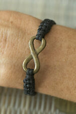 Bracelet amitié fil noir ajustable Noeud infini sans fin Amour 21185-FS3