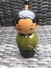 More details for kokeshi japanese doll samurai