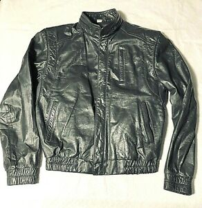 Vintage Wilsons Leather Jacket Womens 38 Gray Removable Liner