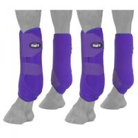 Tough-1 4 Pack Purple Extreme Vented Neoprene Size Large Sport Boots Horse Tack